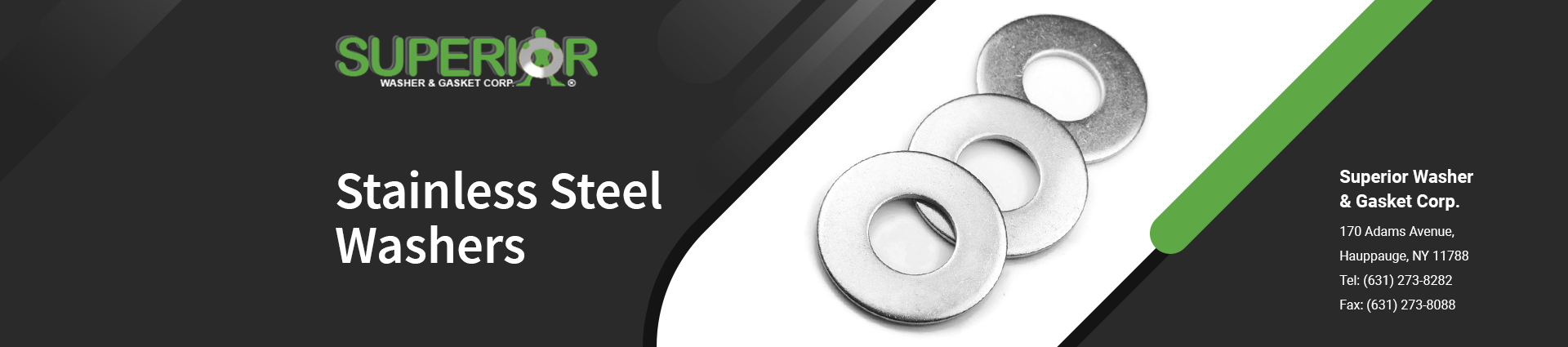 stainless-steel-washers banner Superior Washer & Gasket Corp